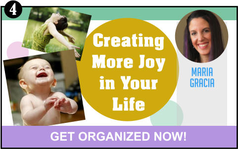 Creating More Joy in Your Life MARIA GRACIA GET ORGANIZED NOW! 4