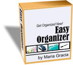 Easy Organizer Get Organized Now! by Maria Gracia Easy Organizer