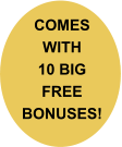 COMES WITH 10 BIG FREE BONUSES!