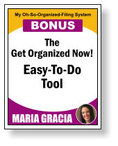 The Get Organized Now! Easy-To-Do Tool MARIA GRACIA My Oh-So-Organized-Filing System BONUS