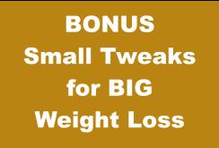 BONUS Small Tweaks for BIG Weight Loss