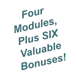 Four Modules, Plus SIX Valuable Bonuses!
