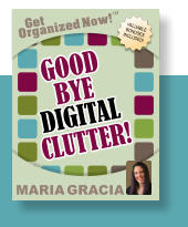 Get Organized Now! VALUABLE BONUSES INCLUDED! TM MARIA GRACIA GOOD GOOD  BYE BYE CLUTTER! CLUTTER! DIGITAL DIGITAL